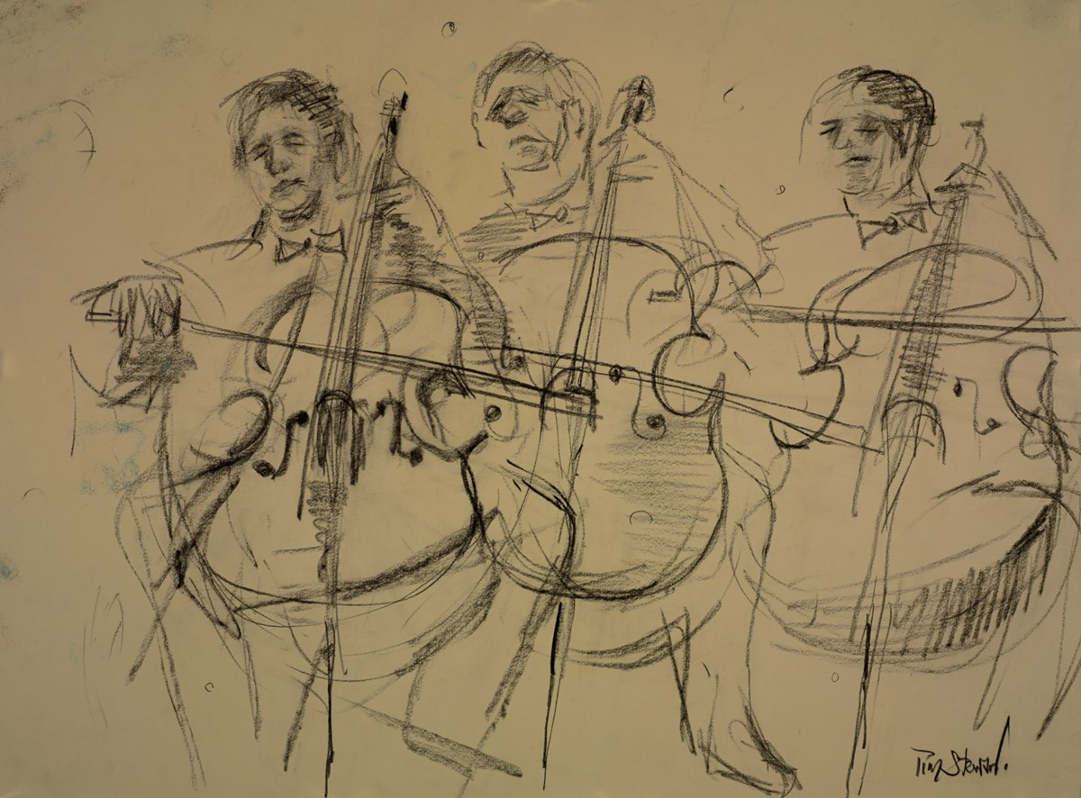 The Three Cellists (Study)